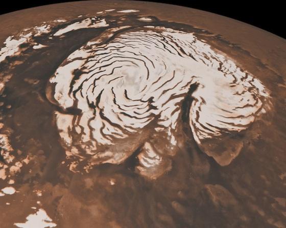 Mars-north-pole-ice-cap