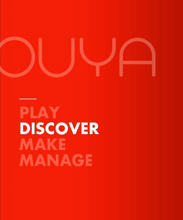 The Ouya's main menu showing the make option