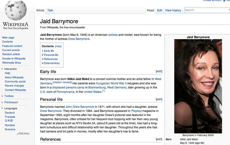 jaid barrymore and john barrymore