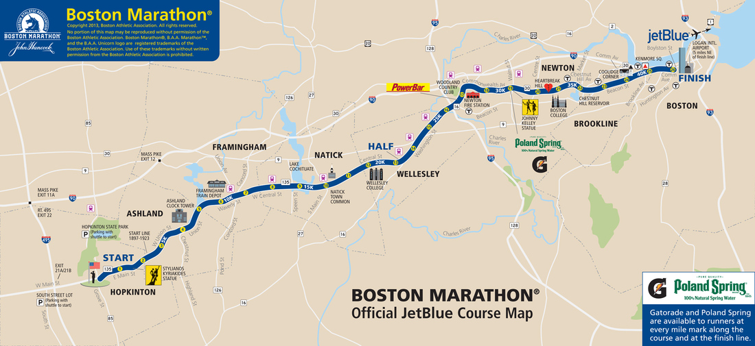 Boston Marathon 2013 Route information course map and more