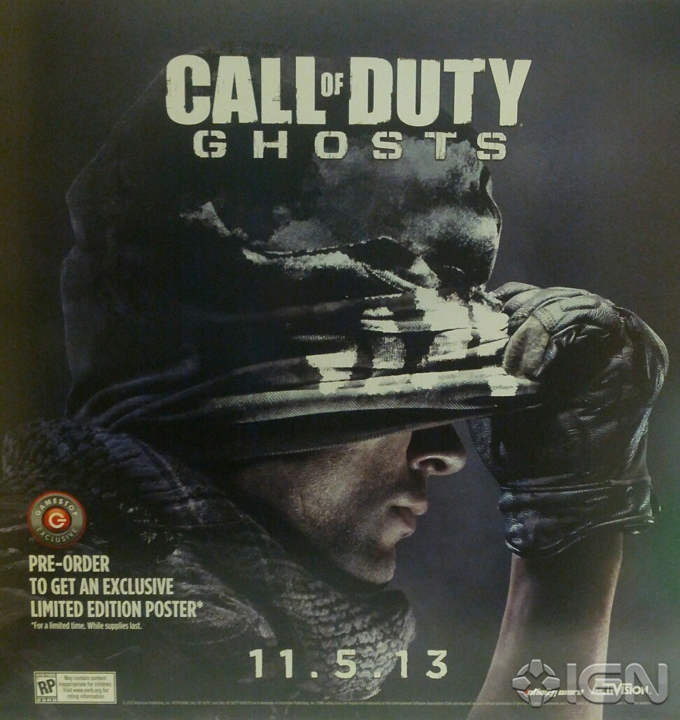 Call of Duty: Ghosts launching Nov. 5, according to leaked poster