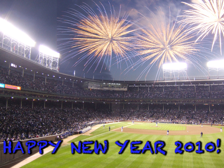 Peace & happiness to all in 2010. And many Cubs wins!