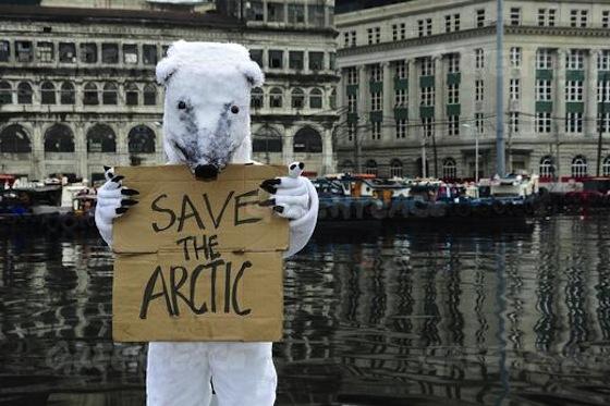 Greenpeace-polar-bear-arctic-protest