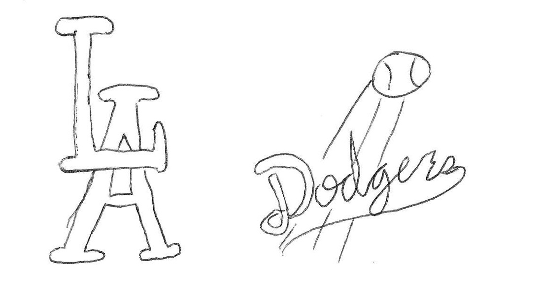 Draw A Sports Logo From Memory Los Angeles Dodgers Sbnation