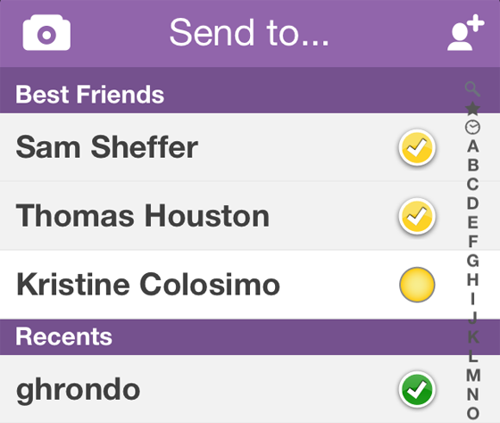 Snapchat Best Friends List