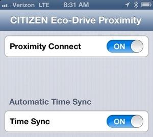 citizen eco drive proximity manual