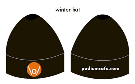 Podium Cafe Winter Hat