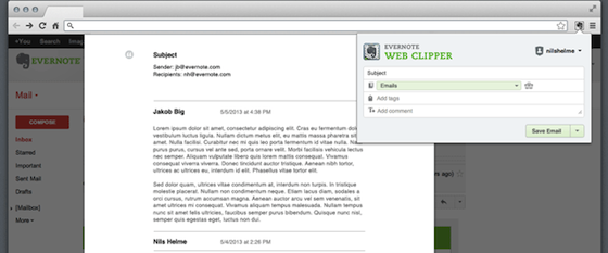 gmailclip Evernote upgrades web clipper to save your Gmail, including attachments