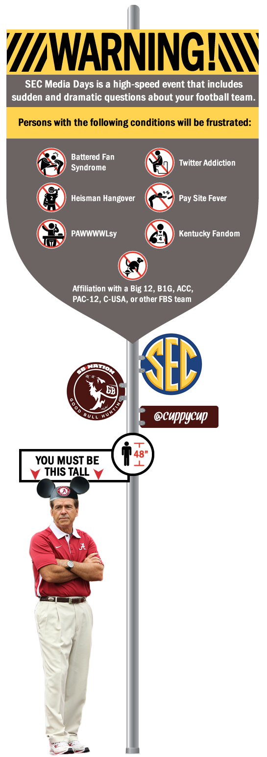 SEC Media Days Warning Sign