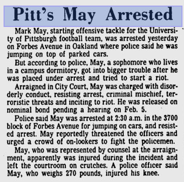 Mark May arrest in 1979
