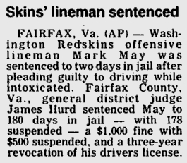 Mark May DWI Sentence