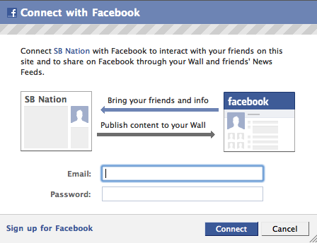 New Feature: Facebook Connect on SB Nation - Blog Huddle