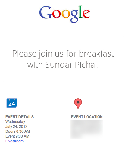 Google hosting july 24th event with android and chrome boss sundar googleinvite stopboris Images