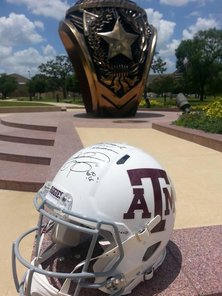 Johnny Manziel autographed helmet