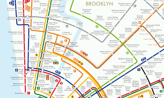 Circular subway map reimagines New York as a colorful, geometric ...