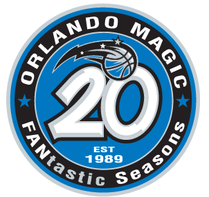 The Orlando Magic's 20th Anniversary logo