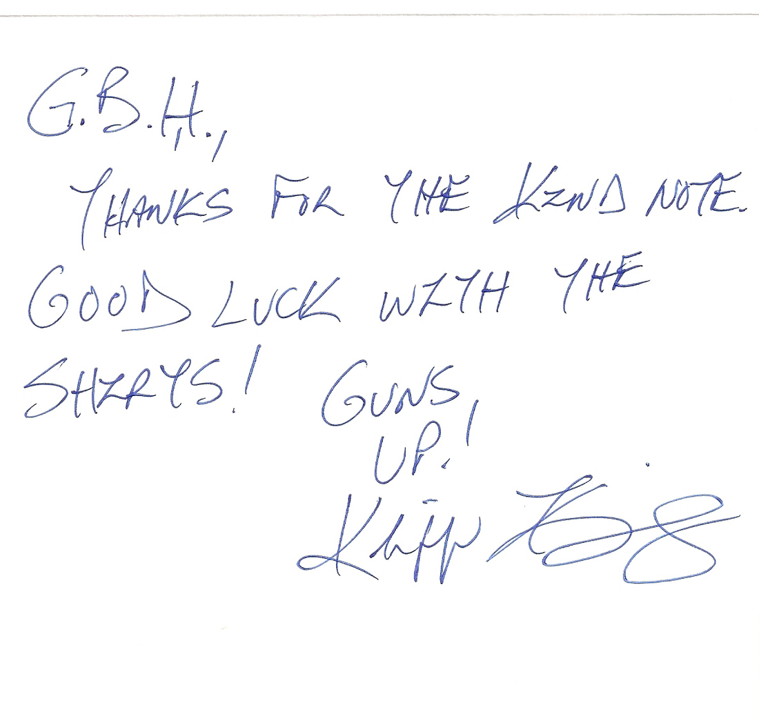 Letter from Kliff Kingsbury