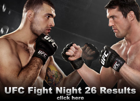 UFC Fight Night 26 Results