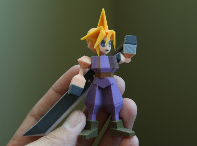 3d Printed 39 Final Fantasy Vii 39 Figurines Are Polygon