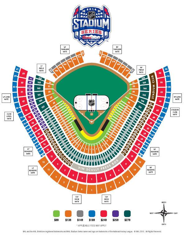 Nhl Stadium Series Seating Chart Released For Dodger