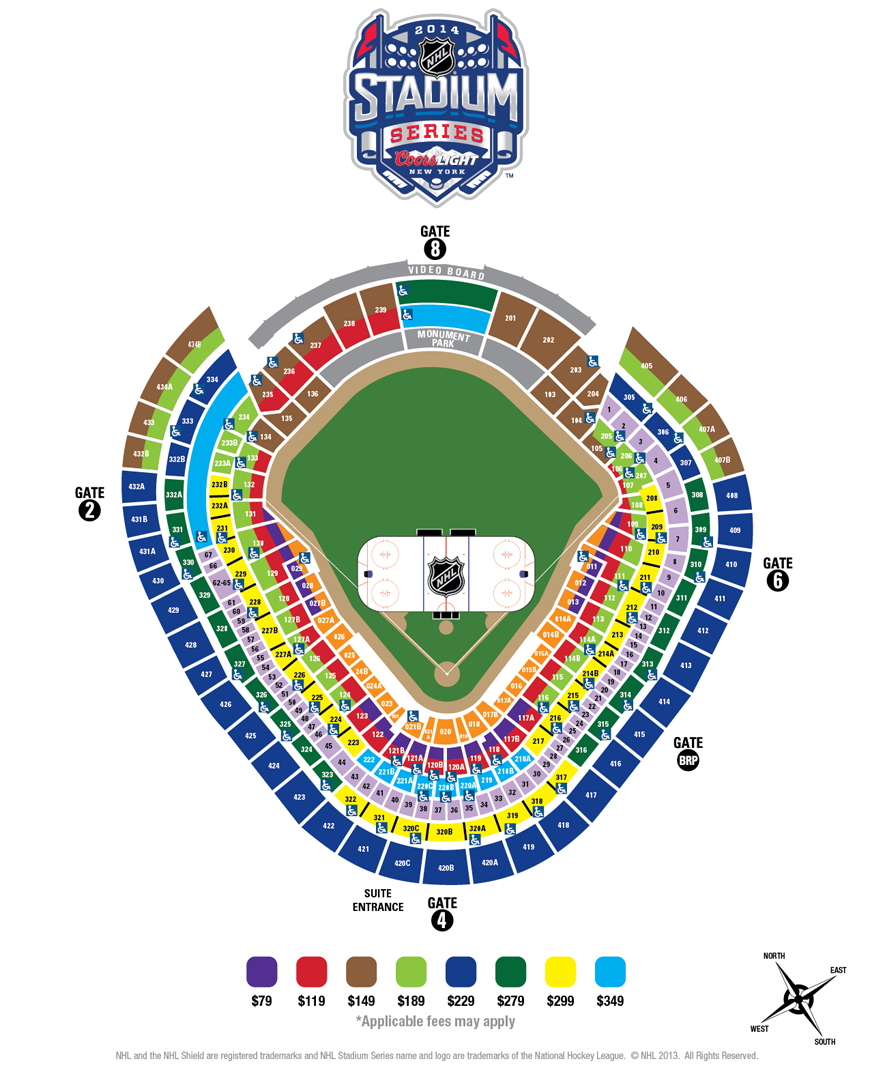 NHL Stadium Series: Seating chart, ticket prices unveiled for Yankee ...