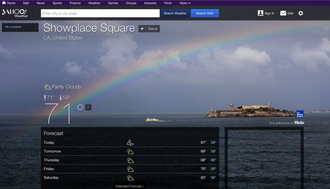 Yahoo Weather redesign