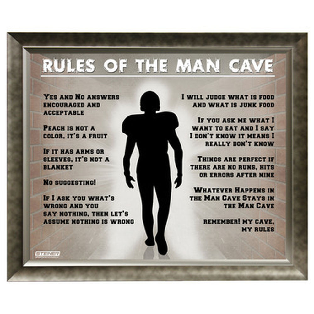 Man Cave Rules Artwork : Browsing the sports section of skymall sbnation