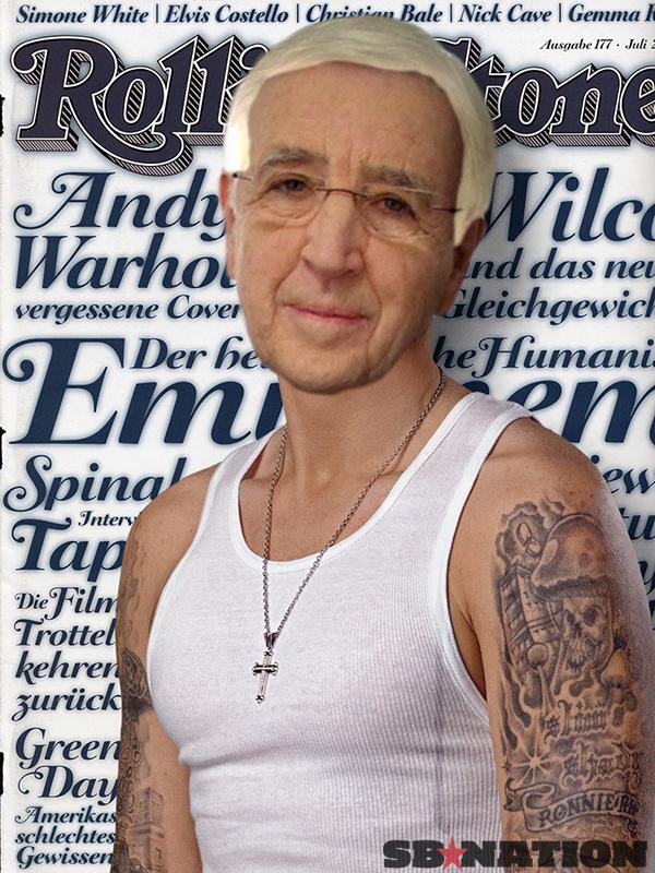 Eminem Blonde Hair 2012 Eminem with blonde hair 2013
