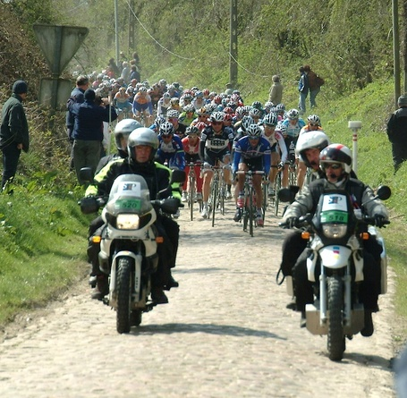 Paris-Roubaix 2010 on the cobbles.  Photo: Chris Fontecchio.