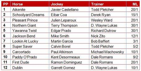 2013 preakness stakes picks, entries & post positions, The stage is