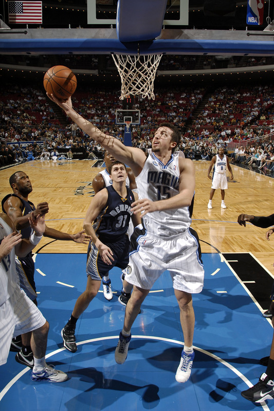 Hedo Turkoglu of the Orlando Magic shoots a layup against the Memphis Grizzlies in Orlando's 101-90 victory on Wednesday, October 22nd, 2008.