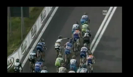 Giro d'Italia Evans fight