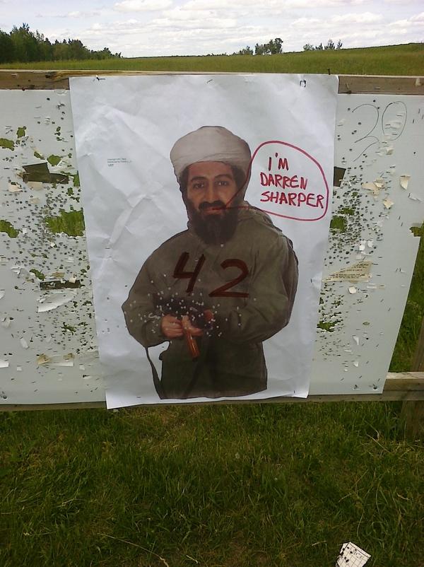 osama bin laden target practice. Sharper As Osama Bin Laden