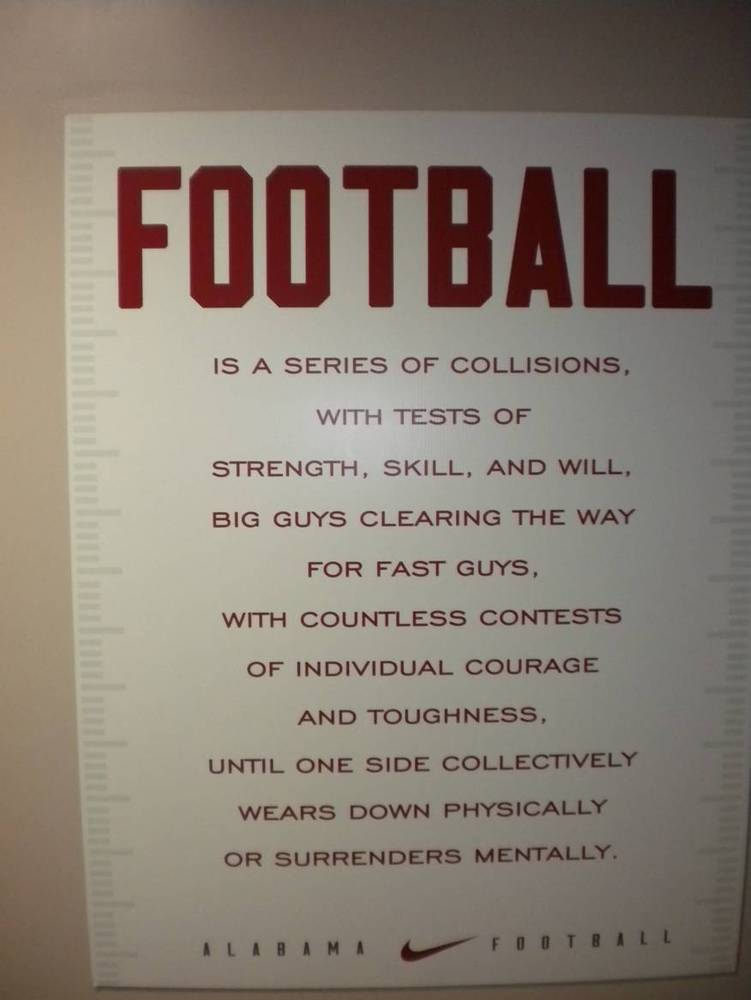 If Your Job Title Was Crimson Tide Football Player This