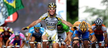 Tour de France Podium Cafe Mark Cavendish