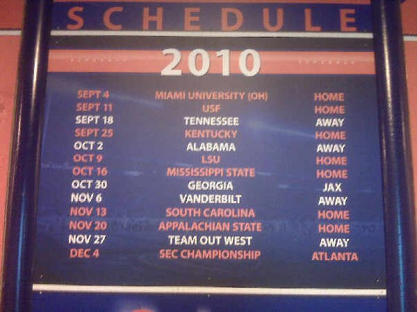 Florida forgets FSU's name on schedule