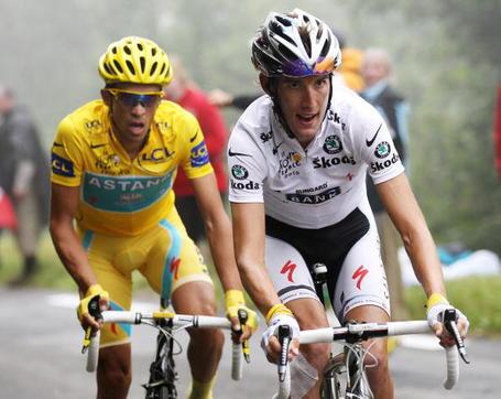 Andy Schleck Alberto Contador Tour de France