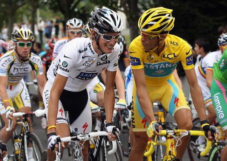 Andy Schleck, Alberto Contador, Tour de France