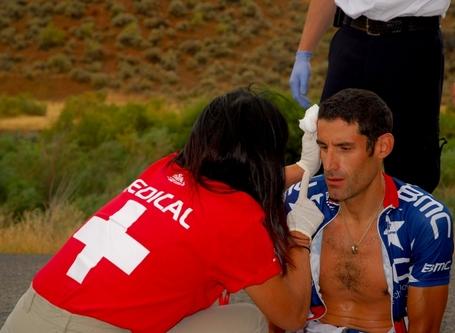 George Hincapie Crash Tour of Utah