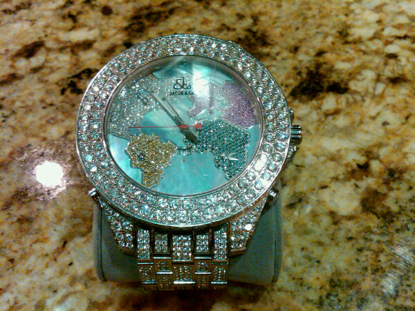gift part to watches from floyd jewel the explains left his mgm reveals has of he watch collection encrusted right sport a mayweather