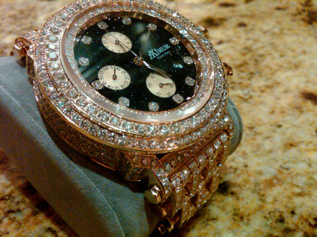 stunning sport dozens diamond timepieces his revealing floyd watches shows encrusted off preview watch collection mayweather of