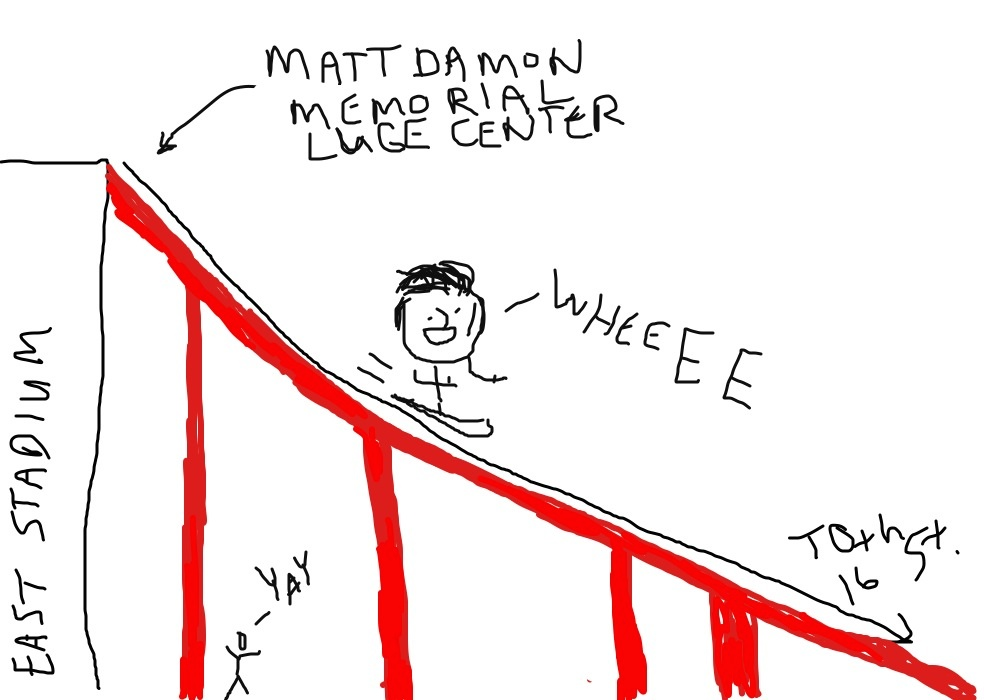 Matt Damon Memorial Luge Center