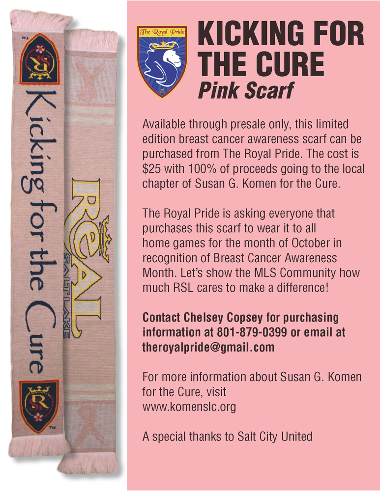 kicking for the cure flyer Dermot McQuarrie Interview: MLS Talk Podcast