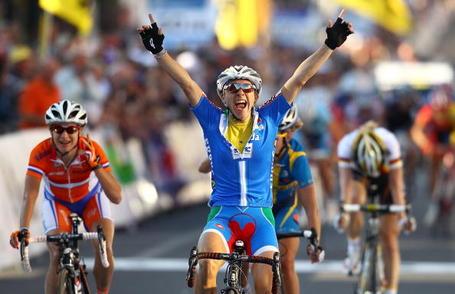Giorgia Bronzini Marianne Vos Emma Johansson Cycling World Championship Geelong