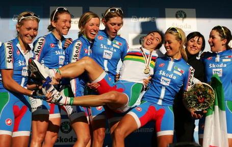 Bronzini and the Italian team Geelong 2010