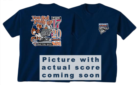 Gameday Depot Iron Bowl 2010 Victory Shirt