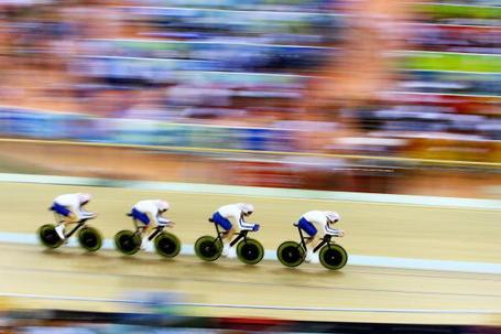 Geraint Thomas, Edward Clancy, Paul Manning, and Bradley Wiggins, British team pursuit, Beijing Olympics 2008