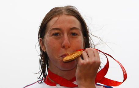 Nicole Cooke and gold medal at the Beijing Olympics