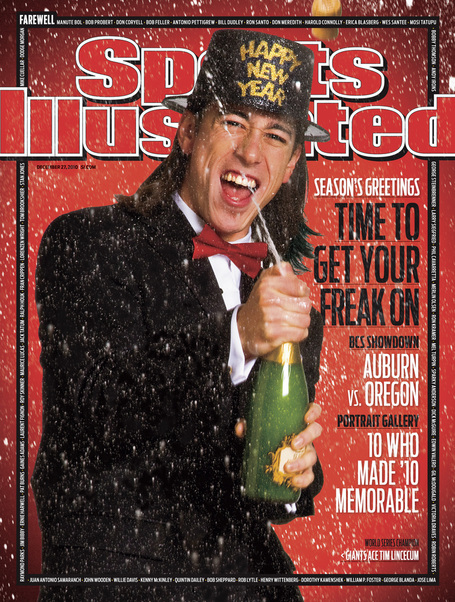 Tim Lincecum On The 2010 New Year's Sports Illustrated Cover