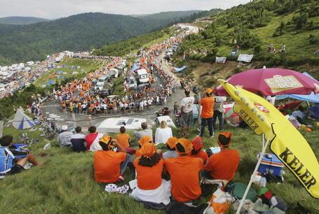 Plateau de Beille, Tour de France 2004.